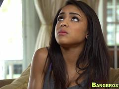 Ebony teen rides shlong