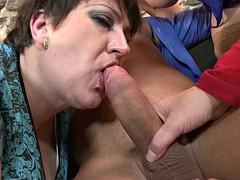 Three mature moms share a toy boy