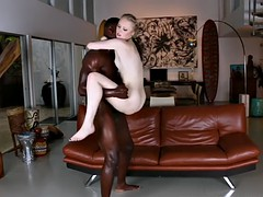 thief girl lily rader finds a place to hide for letting mandingo destroy her pussy
