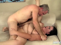Sensual Fat Babe Takes a Deep Dicking