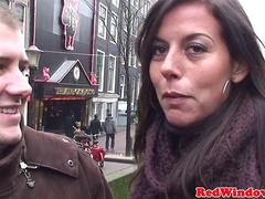 Doggystyled dutch prostitute welcomes tourist