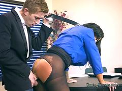 Busty Lawyer Simone Garza Services Hung CEO