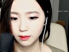 korean cute 18yo camgirl teasing
