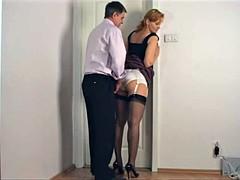 jerking on secretary panty ass