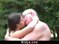 Young hot babe licks and swallows cum after fucking