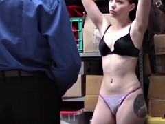 tattooed redhead babe slurping big boner