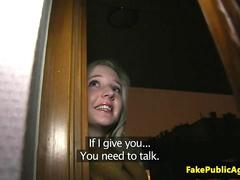 Pulled eurobabe creampied by fake agent