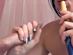 Shisha smoking teen gives head