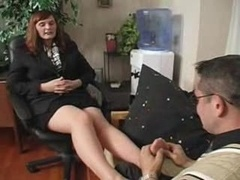 Boss in Pantyhose Gets What She Wants