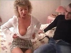 British granny goes wholly wild & tries to have an intercourse with her gr&son's buddy