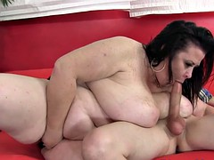 Doggystyle fucked bbw enjoys big cock
