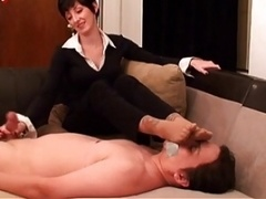 Foot Smelling and moreover Ramrod Teasing For Foot Menial