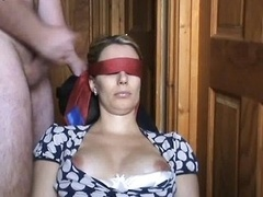 Blindfold Male orgasm
