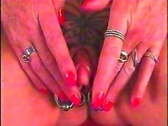 Large Sugar plum Pumped with Tattoo Piercing by snahbrandy