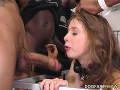 Interracial Gangbang with Zoey Laine