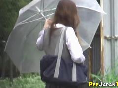 Pissing japanese ho park
