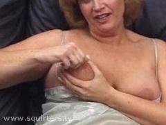 Aged Slut Masturbating And also Sq