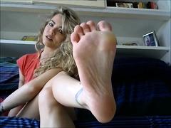 Amateur, Blonde, Fétiche, Fétiche des pieds, Hd, Solo, Webcam