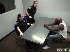 Nasty cops suck a big black prick