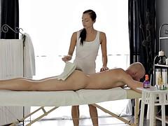 Ukrainian Anita Sparkle enjoys massage