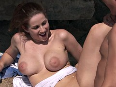 Sex Close To The Nature With Busty Babe