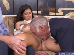 Cute Victoria Valencia in a hot theesome fuck