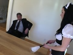 Man of affairs tests his maid with the help of anal sex