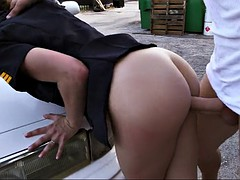 1molly jane bends over her police car and gets fucked by the culprit