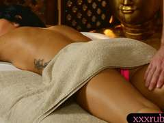 Cute client Sabrina Banks screwed by her weirdo masseuse