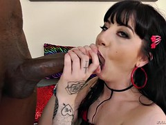 charlotte sartre sucking the enormous black cock