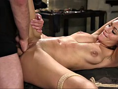 palm deep in her pussy and balls deep in her ass - that's how moka mora gets punished