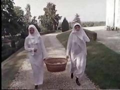 A pair of Shaggy Nuns  ..vintage