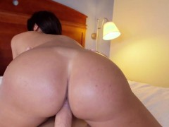 Oiled up huge ass babe