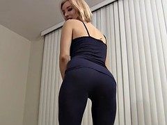 i love the way these yoga pants look on me joi