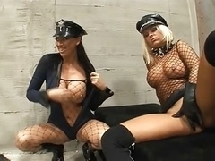 Having an intercourse in prison in leather gloves on 2