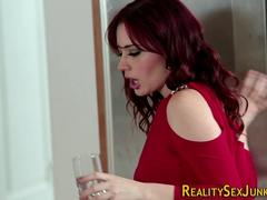 Blasen, Spermaladung, Absätze, Küche, Pornostars, Rotschopf