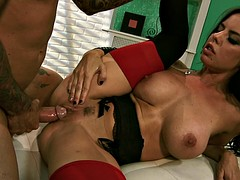 Hard Cock Between Her Tits And Legs