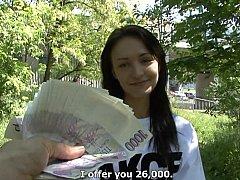 Leie, Tschechisch, Europäisch, Geld, Pov, Öffentlich, Muschi, Reiten