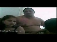 Indian gal Hira enjoyed by group of boys in hotel room