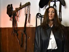 Ladies in Long Leather Coats 3