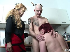 Blond, Duits, Hd, Roodharige vrouw, Trio