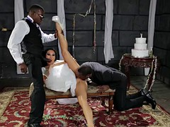 Asian bride fucking with black guys before the wedding