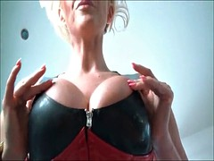 Hot chick with big fake tits