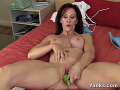 Hot MILF Catherine Pleasing Her Pussy