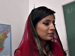 Nadia Ali Learns To Handle A Bunch Of Black Cocks