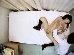 Lovely Asian babe lets the lusty doctor play with her sweet