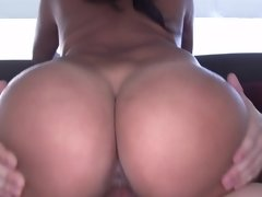 Colombian girl is taking a dick inside her pussy, doggy style