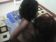 Sexy amateur lesbians from Africa are having amazing sex in