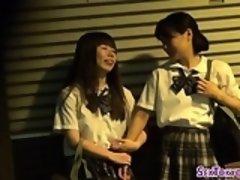Asian lesbian teens kiss