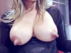 big tits and nips full with milk